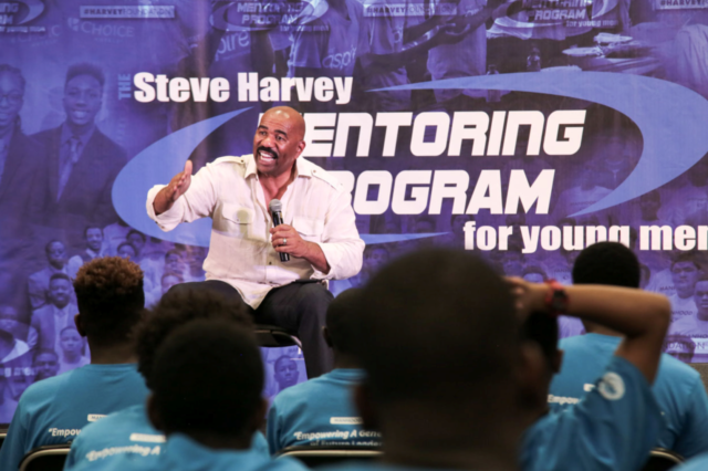 Steve Harvey Gives Back on Father's Day
